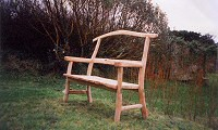 Rustic Chestnut Bench